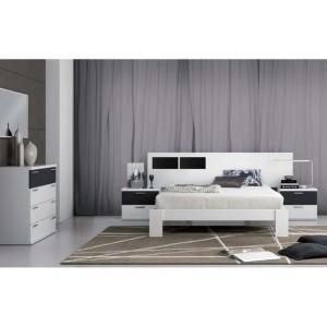 Dormitorio de matrimonio cr 111 blanco negro jovic online for Dormitorio matrimonio negro