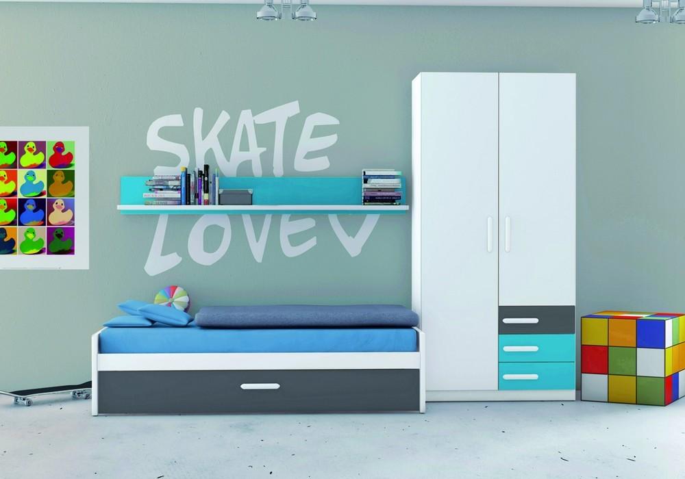 Dormitorio juvenil ju 9005 cama nido jovic online for Dormitorio juvenil cama nido